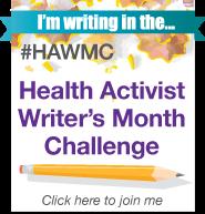 HAWMC_2012_badge im writing in challenge