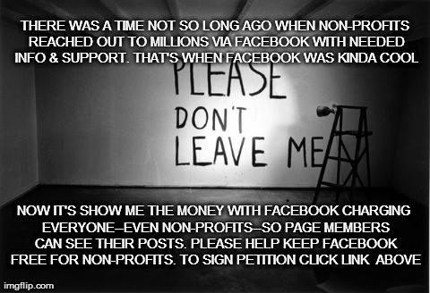 Sign the Petition to Keep Facebook Free for Non-Profits