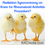 Member Discussions and Questions Radiation Synovectomy on Knee for Rheumatoid Arthritis Procedure Member Discussion from RA Chicks :Women with Rheumatoid Arthritis